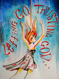 "Letting Go. Trusting God. | 9"" x 12"" Original"