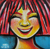 Joyful | Original Mini Canvas on Easel