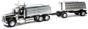 Kenworth W900 Twin Dump Truck - COLOR MAY VARY