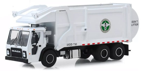 New York City Dept. of Sanitation DSNY  Mack LR Front Loading  Garbage Truck Toy Replica