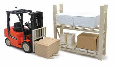 Remote Control Forklift with Pallet Rack and Accessories