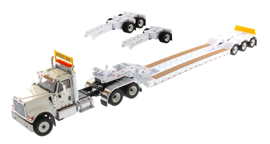 International HX520 Tandem Tractor & XL 120 Lowboy Trailer - White