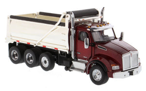 Kenworth T880   3-Axle Dump Truck - Red