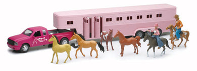 Pick-Up in Pink with Horse Trailer and Accessories