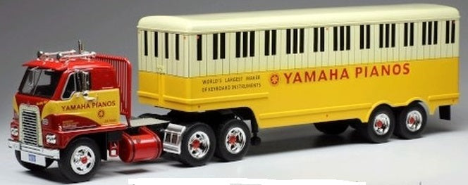 International Emeryville Tractor with Yamaha Pianos Trailer