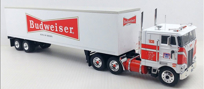 Peterbilt 252 Tractor with Budweiser Trailer
