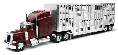 Peterbilt with Pot Belly Livestock Trailer