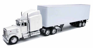 Peterbilt 379 Tractor with Dry Van Trailer in White