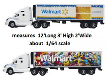 Load image into Gallery viewer, Walmart Toy Truck and Trailer Replica