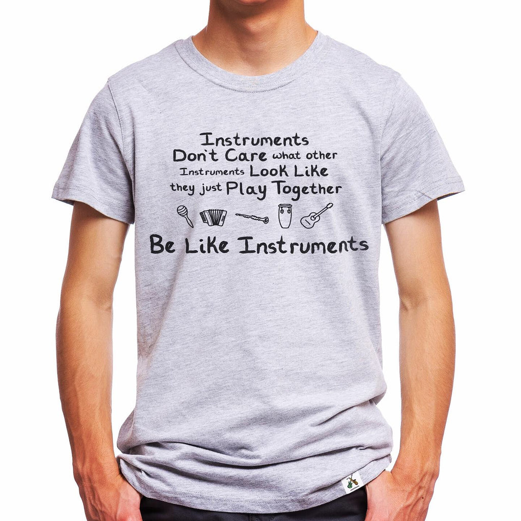 Gray Kids Music Instrument T-Shirt