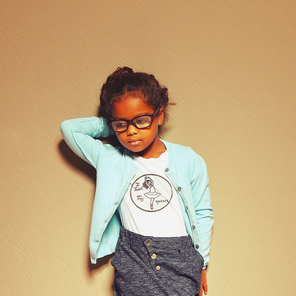 Beyonce inspired I Twirl on my Haters T-shirt for Kids in White