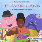 Flavor Land: The Magic of Music and Mixing Book Cover african american girl and ice cream