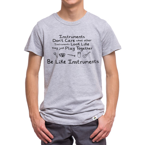 Gray Teen and Adult Music Instrument T-Shirt