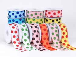 Grosgrain Ribbon Jumbo Dots