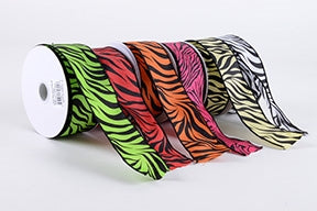 Animal Print Satin Ribbon