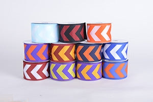 Chevron Print Satin Ribbon
