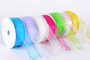 hin Wire Edge Organza Ribbon