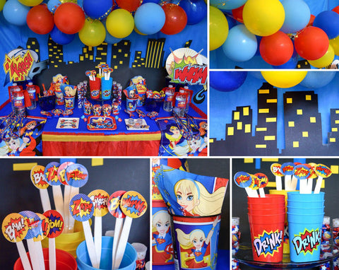 Superhero Themed Birthday Party