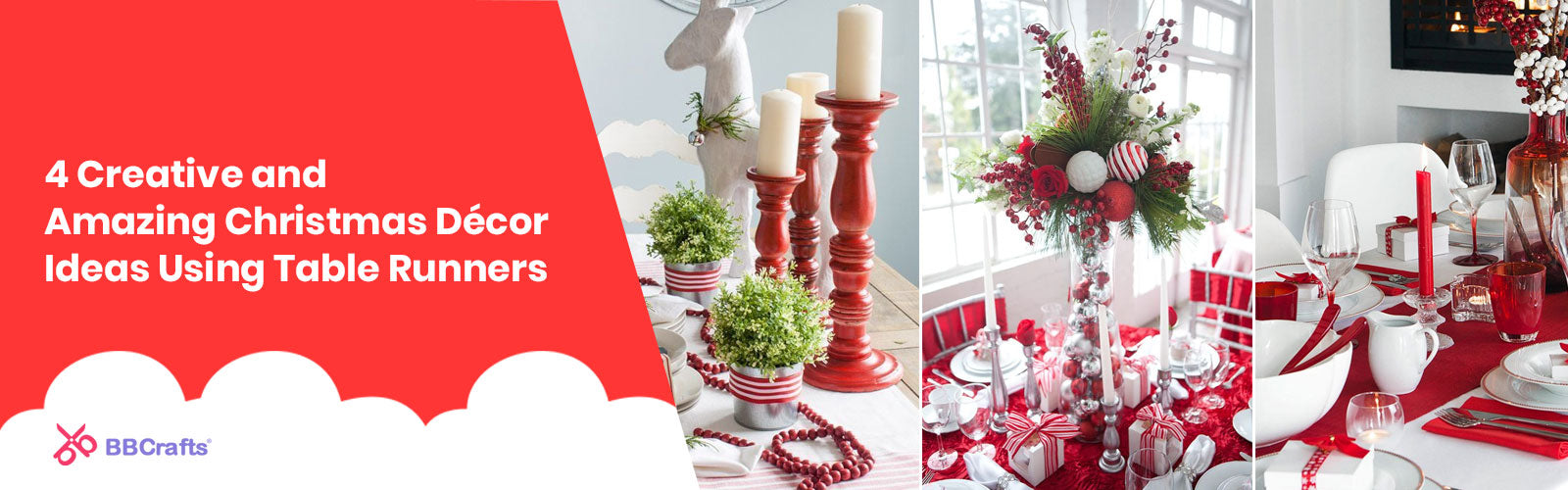 4 Creative and Amazing Christmas Décor Ideas Using Table Runners