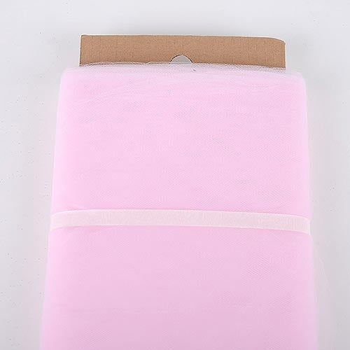 Light Pink - 54 Inch Premium Quality Nylon Tulle Fabric Bolt ( W: 54 inch | L: 40 Yards )