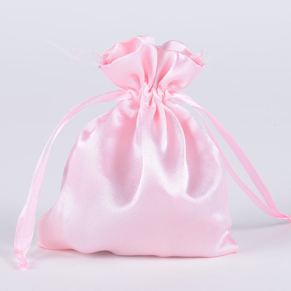 Pink - Satin Bags - ( 3x4 Inch - 10 Bags )