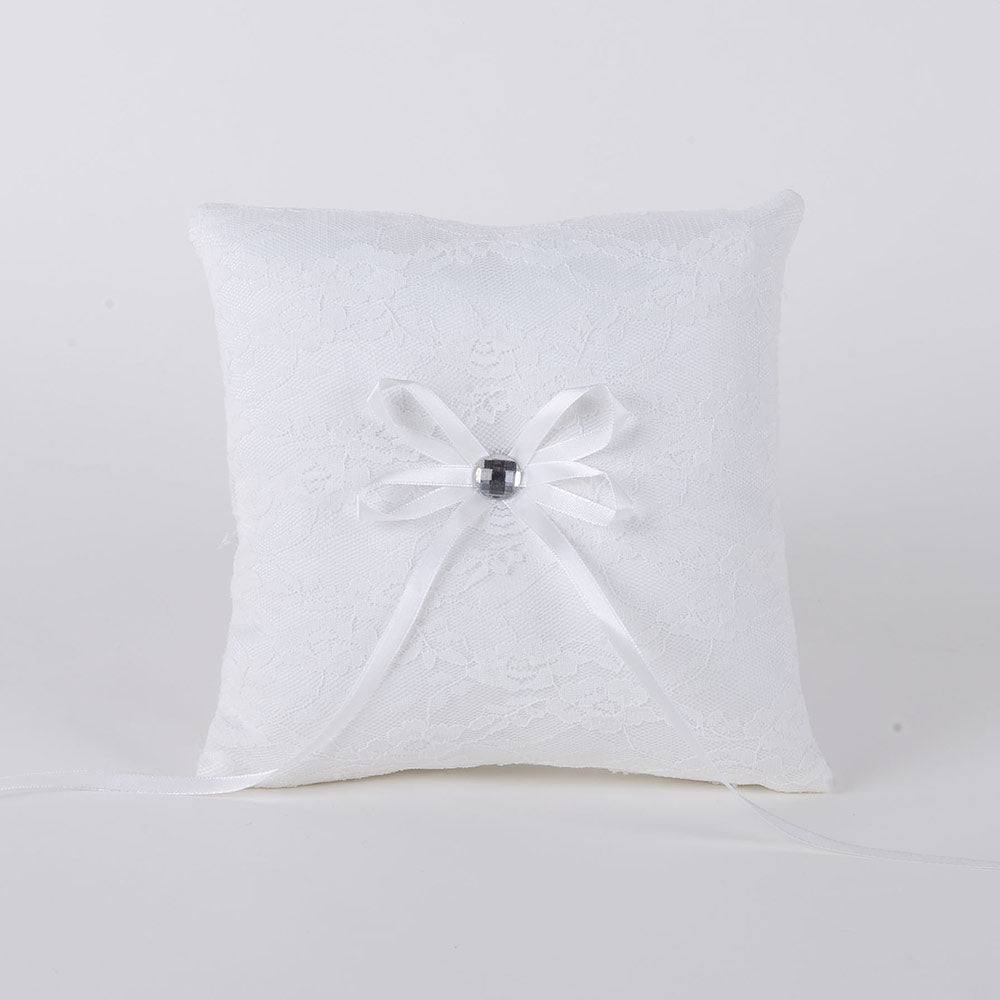 Ring Bearer Pillow Ivory ( 7 x 7 inches )