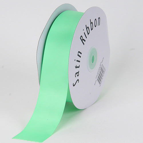 Mint - Satin Ribbon Single Face - ( W: 3/8 inch | L: 100 Yards )