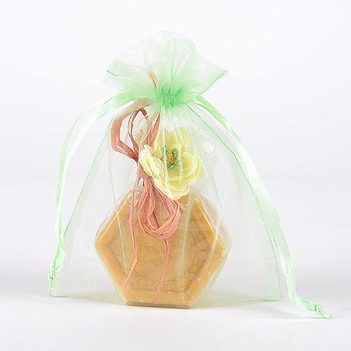 Mint - Organza Bags - ( 6x15 Inch - 10 Bags )