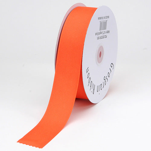 Orange - Grosgrain Ribbon Solid Color - ( W: 3/8 inch | L: 50 Yards )