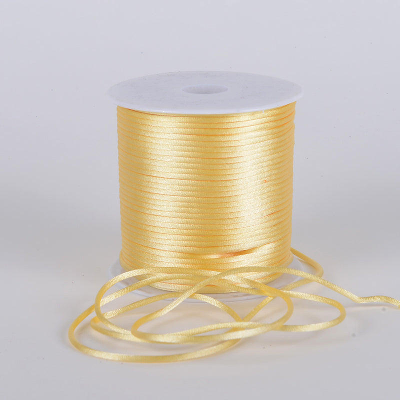Baby Maize - 3mm Satin Rat Tail Cord - ( 3mm x 100 Yards )