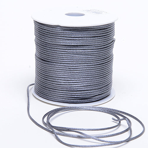Silver - 3mm Satin Rat Tail Cord - ( 3mm x 100 Yards )