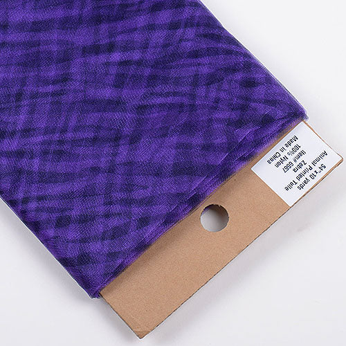 Animal Printed Tulle Bolt Zebra Purple ( W: 54 inch | L: 10 Yards )