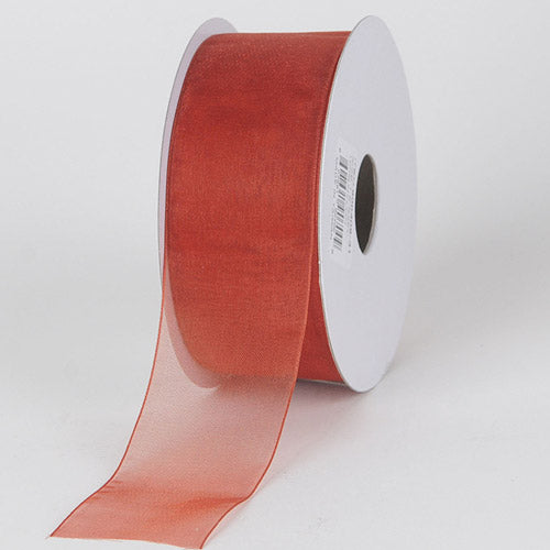 Copper - Sheer Organza Ribbon - ( 7/8 inch | 25 Yards )