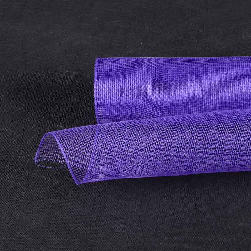 Purple  - Floral Mesh Wrap Solid Color -  ( 10 Inch x 10 Yards )