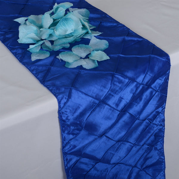 Royal - 12 inch x 108 inch Pintuck Satin Table Runner