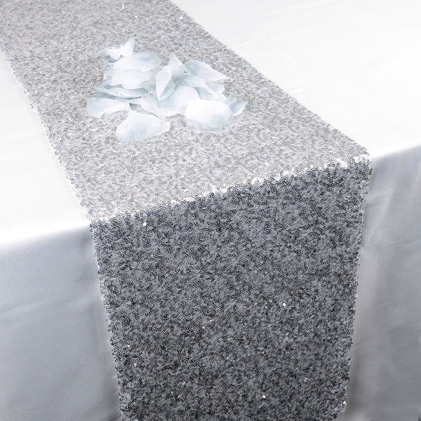 Silver Duchess Sequin Table Runner