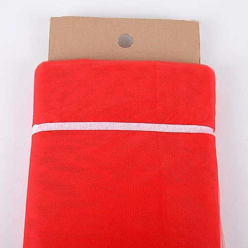Red - 54 Inch Premium Quality Nylon Tulle Fabric Bolt ( W: 54 inch | L: 40 Yards )