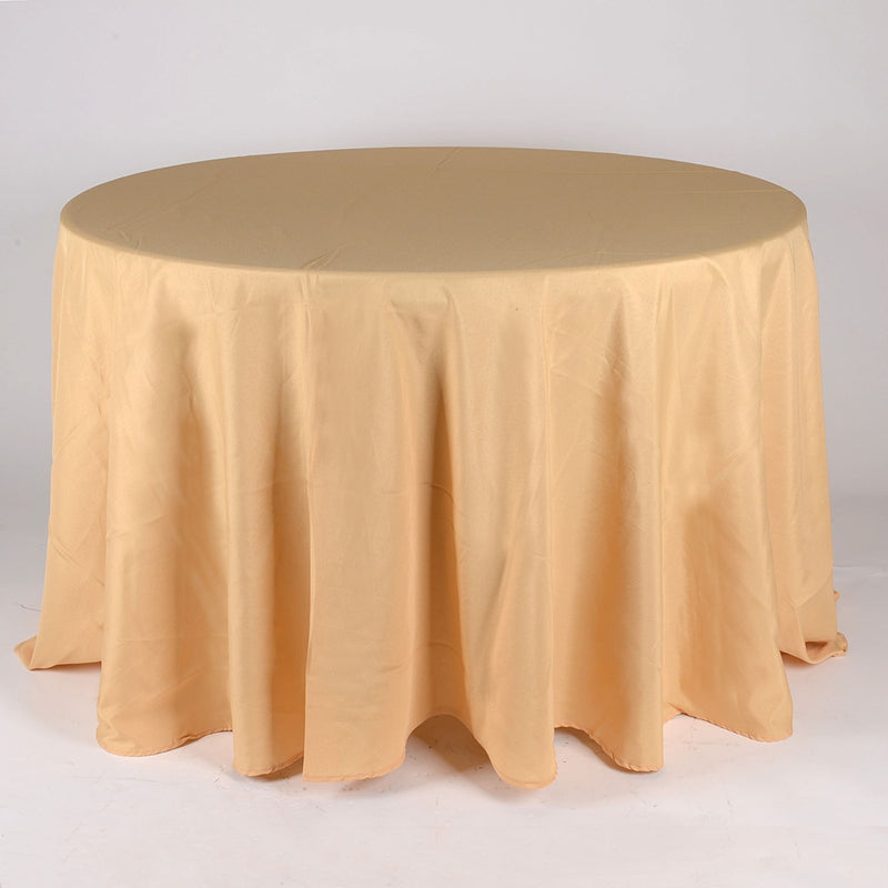 Gold - 132 Inch Round Tablecloths - ( 132 Inch | Round )