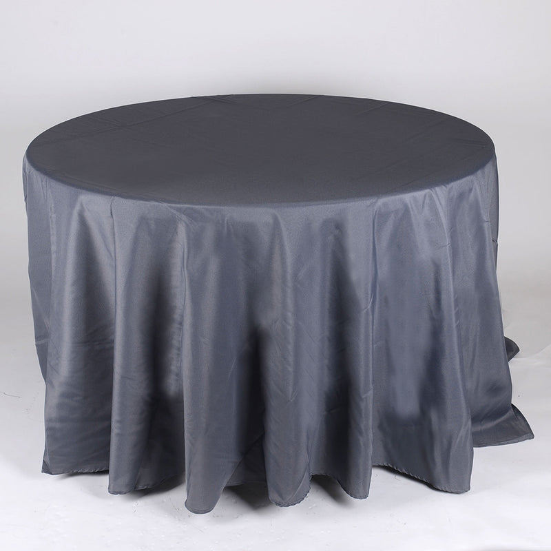 Charcoal - 132 Inch Round Tablecloths - ( 132 Inch | Round )