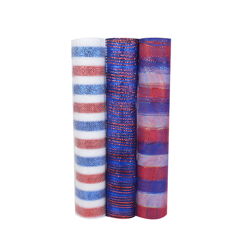Flag Mesh Set - Pack of 3 ( 21 Inch x 10 Yards ) - XB91774*XB92025*XB92027