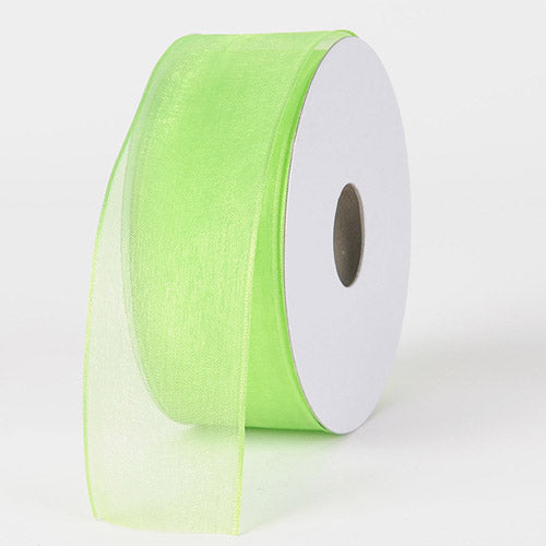 Apple - Organza Ribbon Thin Wire Edge 25 Yards - ( W: 5/8 inch | L: 25 Yards )