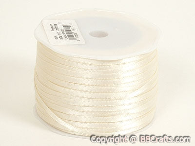 Ivory - Satin Ribbon 1/16 x 100 Yards - ( W: 1/16 inch | L: 100 Yards )