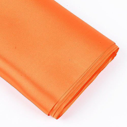 Orange - Premium Satin Fabric - ( W: 60 inch | L: 10 Yards )