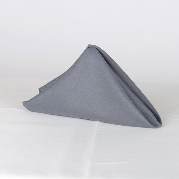 Charcoal- 20 x 20 Polyester Napkins - ( 20 x 20 - 5 Pieces | 5 Napkins )
