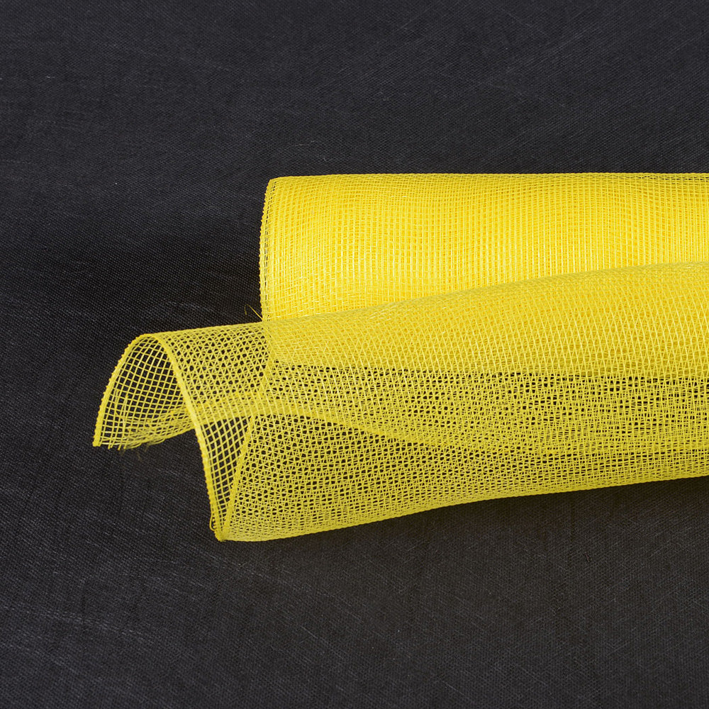 Yellow  - Floral Mesh Wrap Solid Color -  ( 10 Inch x 10 Yards )