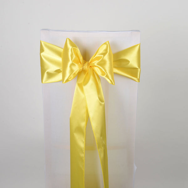 Daffodil - Satin Chair Sash - ( Pack of 10 Piece - 6 inches x 106 inches )