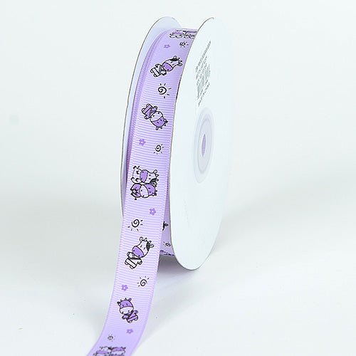 Grosgrain Ribbon MooMoo Cow Print Lavender ( 7/8 inch | 25 Yards )