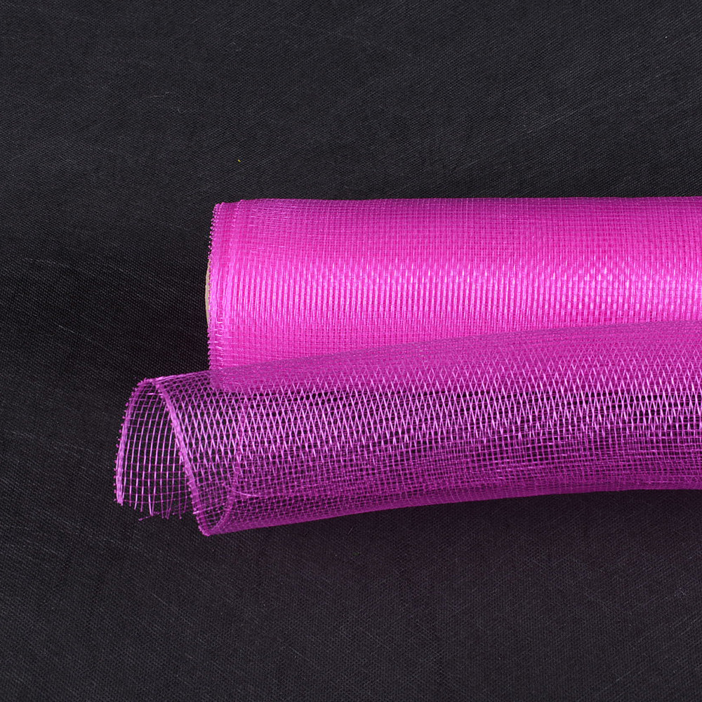 Fuchsia  - Floral Mesh Wrap Solid Color -  ( 21 Inch x 10 Yards )