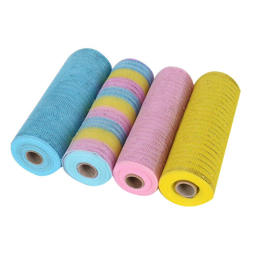 Easter Mesh Set - Pack of 4 ( 10 Inch x 10 Yards )