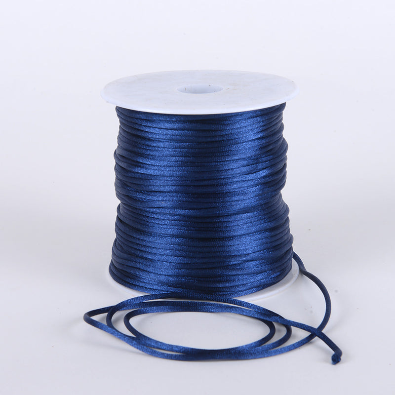 Navy - 2mm Satin Rat Tail Cord - ( 2mm x 100 Yards )